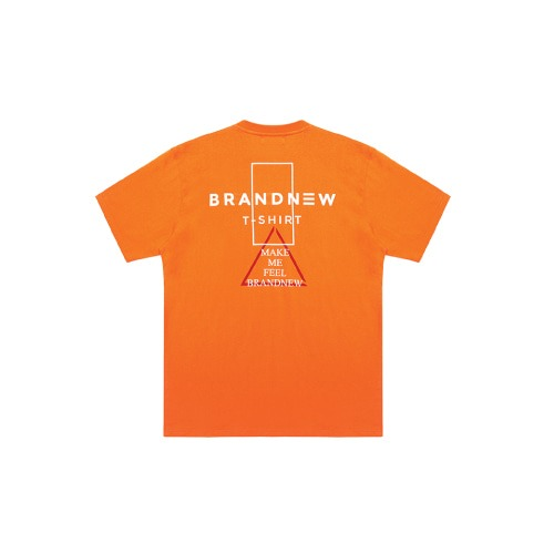 BRANDNEW TRI LOGO T-SHIRT ORANGE
