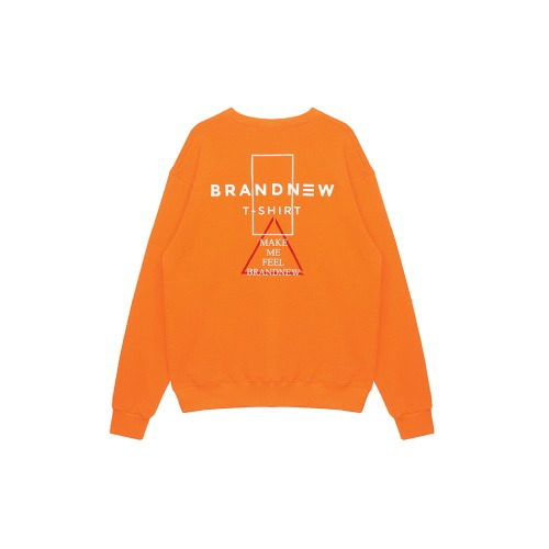 BRANDNEW TRI LOGO SWEATSHIRT ORANGE